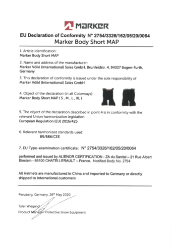 Marker Body Short MAP